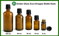 Boston Round Amber 5 mL to 100 mL