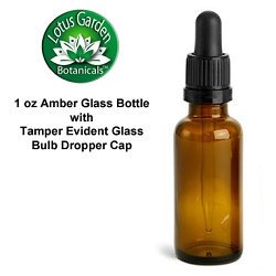 Amber Glass Bottles with Bulb Dropper